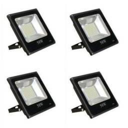 Refletor Super LED Holofote bivolt 10w 30w 50w 100w 150w Branco Frio