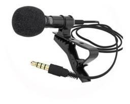 Microfone Lapela Stereo Smartphone Profissional + Cabo 2m
