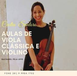 AULAS DE VIOLINO E VIOLA