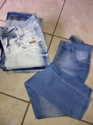 Vendo seis calça de Jean 50 reais cós alto número 36