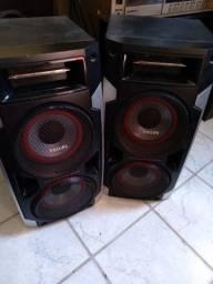 Par caixas acústicas philips 4 auto falantes 4 entradas