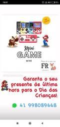 Mini game retrô portátil 400 jogos criança