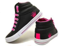 Tenis botinha juvenil sv-shoes barato