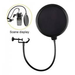 (WhatsApp) pop filter p/ microfone - ms-15 - pop shield