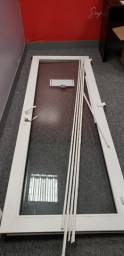 Porta Acústica - PVC e Vidro - 244 x 89