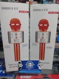 Microfone Karaokê Bluetooth - Produto Novo. Dell Variedades