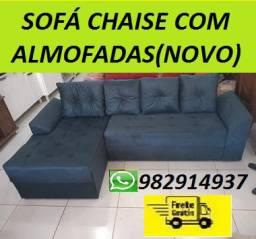 Faça Seu Pedido e Receba No Mesmo Dia!!Sofa Chaise +3 Lugares Com Almofadas!Frete gratis!
