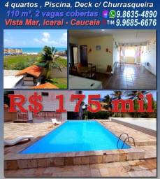 Apto no Icaraí mobiliado, 4 quartos, 110 m², Vista mar, 2 vagas, 175 mil