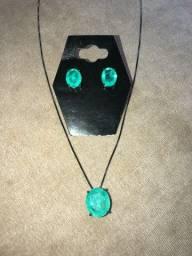 Título do anúncio: Conjunto feminino colar e brincos