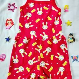 Roupa de bebê: vestido e macaquinho 6 a 12 meses