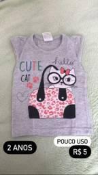 Blusas menina simples (0 a 6 anos)