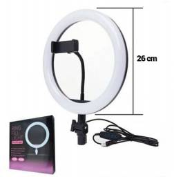 Iluminador ring light 10 polegadas
