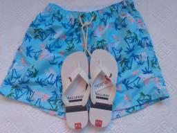 Promoção Kit Short masculino + Chinelo Reserva
