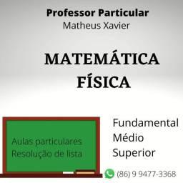 Professor de Matemática e Física