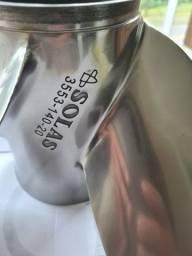 Hélice aço inox, 4 pás para Yamaha V6, passo 20 usada