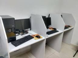 3 unid Call Center Tripla Cinza, total de 9 P.A. - Baias