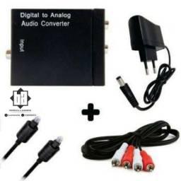 Kit Conversor de áudio digital para RCA analógico.