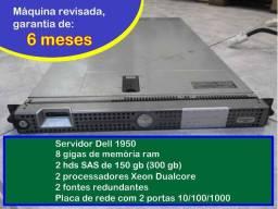 Servidor Dell 1950 - 8 GB de ram - 2x Xeon Dualcore - HD 146 gb