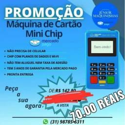 Maquina de Cartão Point Mini Chip D175 Não Precisa de Celular