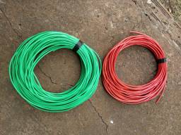 Vendo cabos 6 milímetros e disjuntores