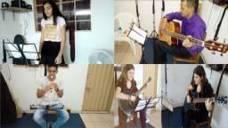 Canto ou instrumento em grupol