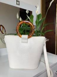 Bolsa branca croco
