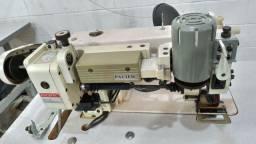 Máquina de costura reta industrial com puller