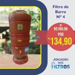 Promoção Filtro de Barro de R$ 169,00 por R$ 134,90
