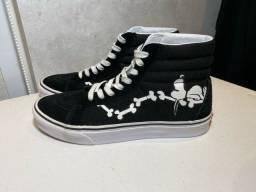Tênis Vans X Peanuts sk8 Hi Reissue Snoopy
