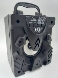 Caixinha De Som Portátil Bluetooth Rádio Fm Usb Led Aux P2