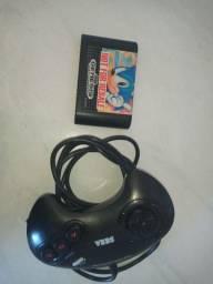 Controle e jogo originais Mega Drive