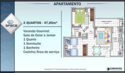 Passo chave de apartamento no space calhau