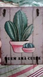 Porta Chaves estampa cactus