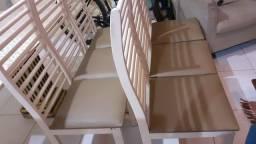 Jogo de 6 cadeiras de madeira