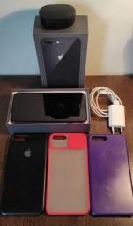 IPHONE 8 PLUS (64GB) + FONE SEM FIO REDMI AIRDOTS 2(ORIGINAL) + 3 CAPAS