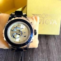 7a89e5234a3 Relógio Invicta Noma- Pulseira Borracha- Todo Funcional- Aceitamos Cartões