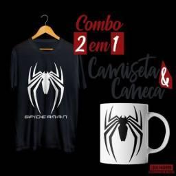 0608933676 Combo - Camiseta + Caneca Homem Aranha (Spider-man)