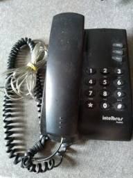 Aparelho de telefone Intelbras com fio Cor preta