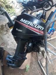 Motor Mercury 15 HP perfeito estado