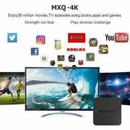 Transforme sua tv em smart tv Mxq 4k 2gb Ram 16gb Android 8.1 Cabo Hdmi configurado