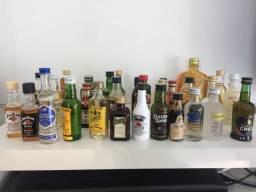 Garrafas miniatura original com a bebida original importado