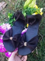 Sandália personaliza de tecido