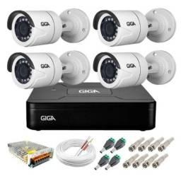 Câmeras de Segurança kit c/ 4+Instalação e treinamento presencial.