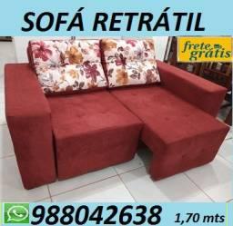 Baratissimo!!Sofa Retratil Novo ,Super Confortavel,com Entrega Gratis!!Aproveite!!