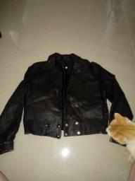 Jaqueta curta couro