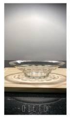 Petisqueira de vidro com bandeja em madeira novo