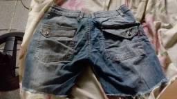 Calças jeans e bermuda