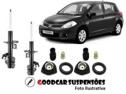 Amortecedores diant. + kit completo - nissan tiida - 2007 a 2013