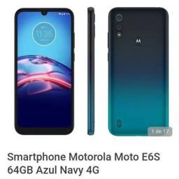 Smartphone Motorola Moto E6S 64GB Azul Navy 4G<br><br>