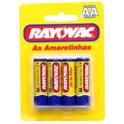 Pilhas Aa Amarelinha Zinco Rayovac 4 unidades